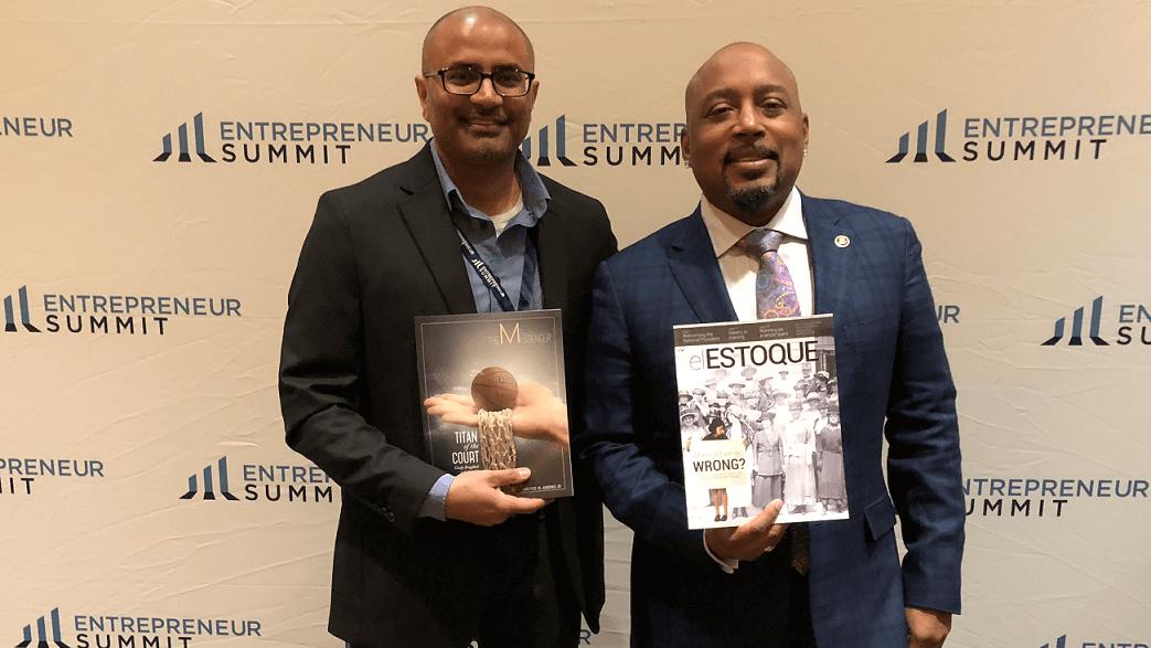 Vivek Garg(aPrintis founder) with Daymond John